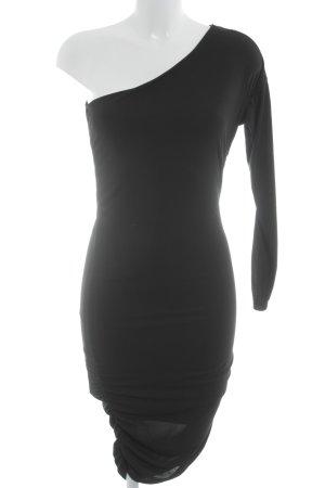 Guess Vestido de un hombro negro elegante