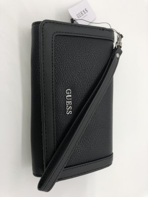 GUESS Original Geldbörse Portemonnaie Clutch Ellisha Black schwarz
