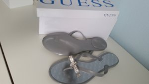 Guess Flip-Flop Sandals silver-colored synthetic material