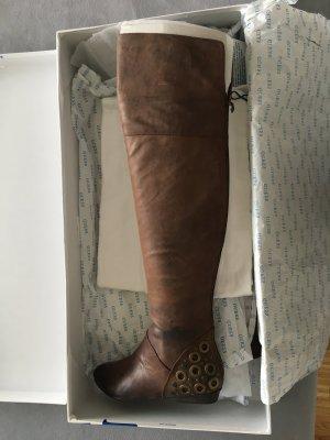 Guess Botas sobre la rodilla marrón Cuero