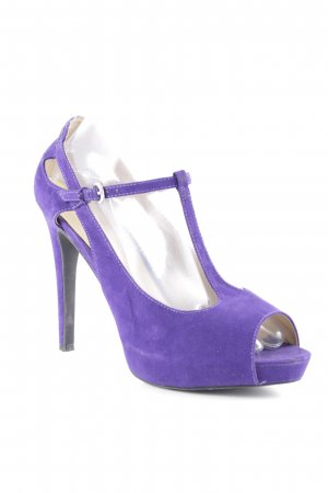 Guess Peeptoe Pumps lila extravaganter Stil
