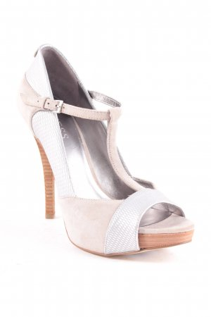 Guess Peeptoe Pumps silberfarben-hellgrau Party-Look