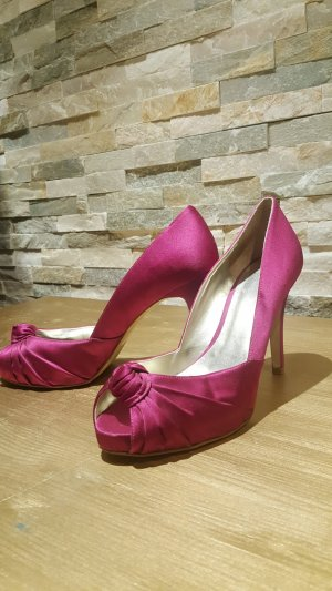 Guess Peeptoes Gr 40 in fuchsia satin wie neu