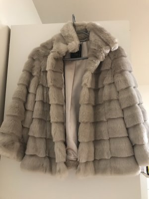 Guess Fake Fur Jacket oatmeal