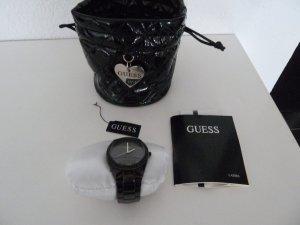 Guess Pixie Dust Damen Uhr W11173L1 schwarz Glitzer ungetragen