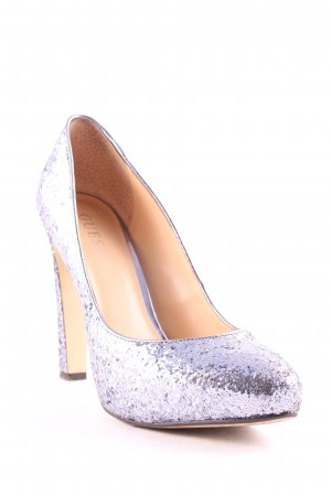 Guess Plateau-Pumps helllila Glitzer-Optik