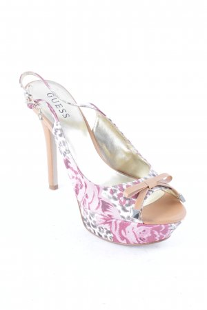 Guess Platform High-Heeled Sandal flower pattern extravagant style