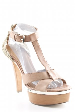 Guess Platform High-Heeled Sandal light brown-gold-colored casual look