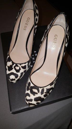 Guess-Plateau-Schuhe mit animal print in Größe 37