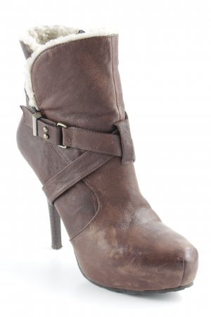 Guess Platform Booties brown-natural white casual look
