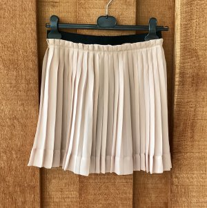 Guess Pleated Skirt oatmeal polyester