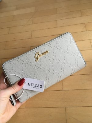 Guess Cartera gris claro-color oro