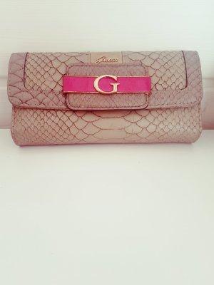Guess Portemonnaie Geldbörse Print Schlangenmuster  beige pink