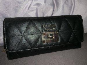 guess portemonnaie, schwarz