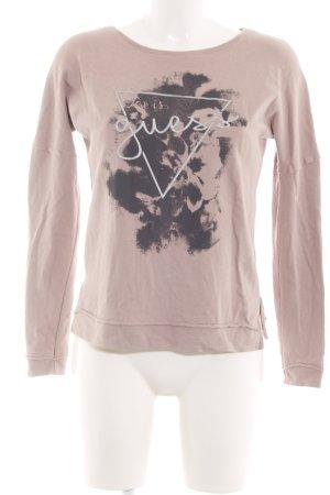Guess Print-Shirt wollweiß Motivdruck Casual-Look