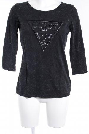 Guess Print-Shirt taupe meliert Casual-Look