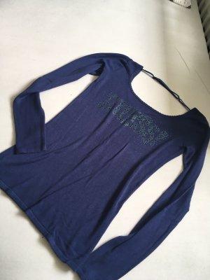 Guess Pullover Feinstrick blau Größe S