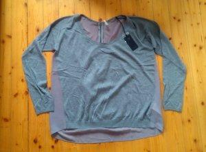 Guess Pullover Gr. L grau NEU € 89,95 transparenter Rücken