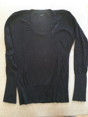 Guess Jersey negro-gris claro