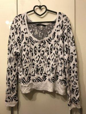 Guess Pullover Leomuster weiß schwarz - Luxury