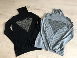 Guess Pullover Rollkragen Set schwarz und grau XS