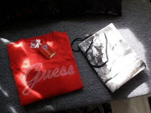 Guess Sweater donkerrood-baksteenrood