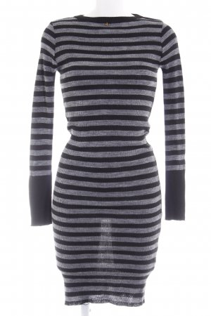 Guess Sweater Dress grey-black striped pattern casual look