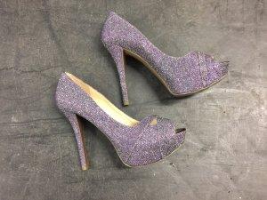 Guess Tacones con plataforma púrpura-violeta grisáceo
