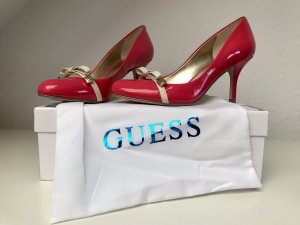 Guess High Heels pink-cream leather