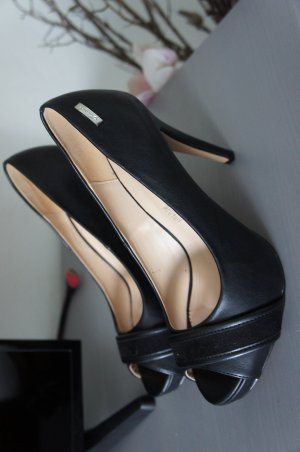 Guess Peep Toe Pumps black leather