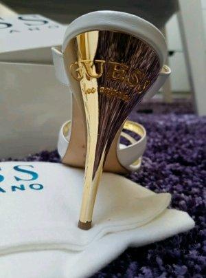 Guess Pumps High Heel Elegant Gold Weiß