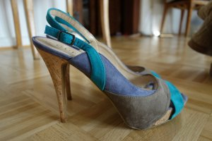 GUESS Pumps high Heels  Leder Kork ungetragen