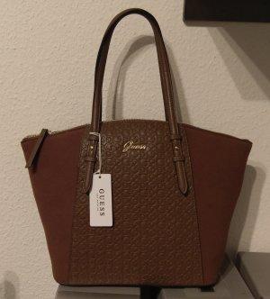 Guess Ramiel Satchel Tasche Shopper Handtasche Schultertasche braun logo