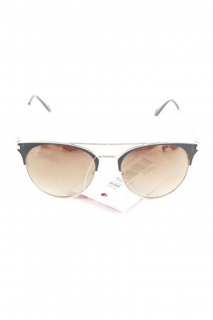 Guess Retro Brille goldfarben-schwarz Retro-Look