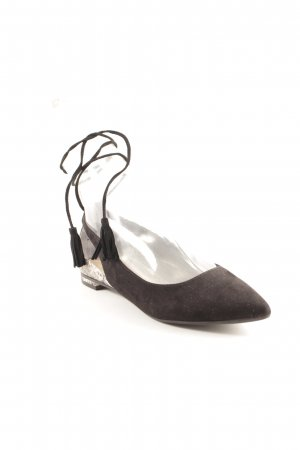 Guess Bailarinas de tira negro-beige claro estampado de animales elegante