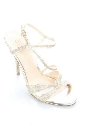 Guess Strapped High-Heeled Sandals gold-colored elegant