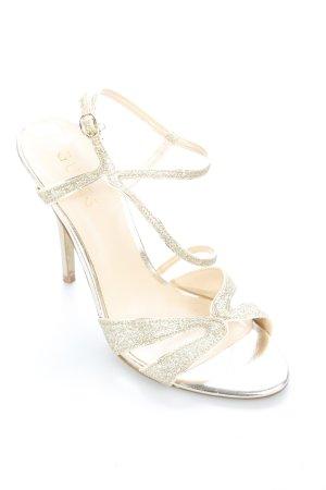 Guess Riemchen-Sandaletten goldfarben Eleganz-Look