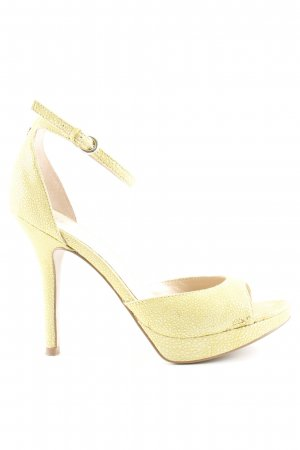 Guess Strapped High-Heeled Sandals lime yellow elegant