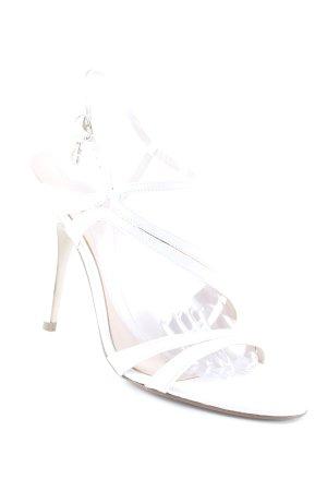 Guess Sandalias de tacón de tiras blanco-nude elegante
