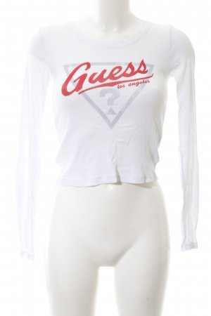 Guess Ribbed Shirt printed lettering casual look