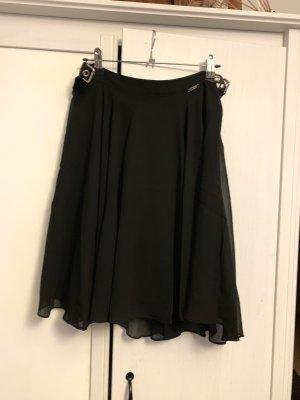 Guess Skater Skirt black-gold-colored