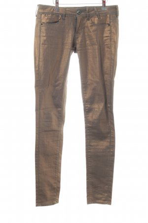 Guess Röhrenhose bronzefarben extravaganter Stil