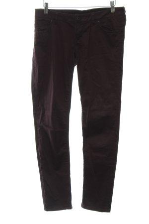 Guess Pantalone a sigaretta marrone-viola stile casual