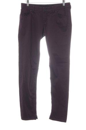 Guess Drainpipe Trousers dark violet casual look