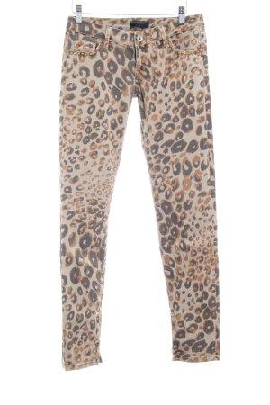 Guess Pantalone a sigaretta Stampa leopardata stile casual