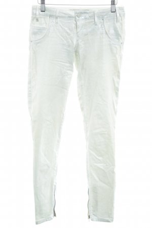 Guess Drainpipe Trousers natural white wet-look