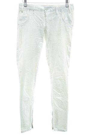 Guess Pantalone a sigaretta bianco sporco effetto bagnato