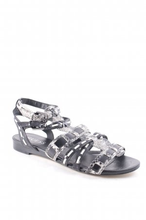Guess Roman Sandals black-grey reptile print