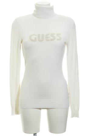 Guess Jersey de cuello alto blanco puro look casual