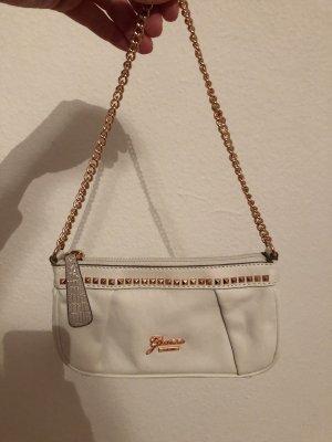 Guess Rosata Clutch Abendtasche weiß neuwertig